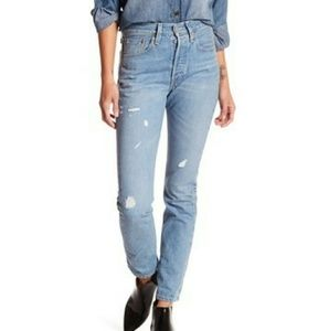 Levi's 501 Skinny Selvedge Jeans Rock N Blues